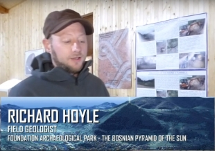 Geologist Richard Hoyle describing 3D printing of Bosnian Valley of Pyramids