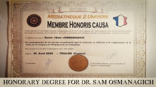 Honorary Degree for Dr. Sam Osmanagich