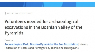 Volunteers needed for archaeological excavations in the Bosnian Valley of the Pyramids