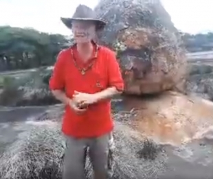 Dr Sam Osmanagić at Ancient Balancing Rocks near Great Zimbabwe