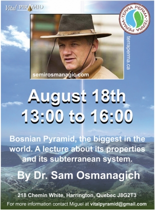 DR. SAM IN CANADA: THREE LECTURES IN AUGUST 2019
