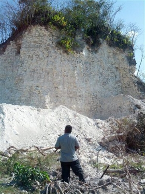 Mayan Pyramid Crushed—for Gravel