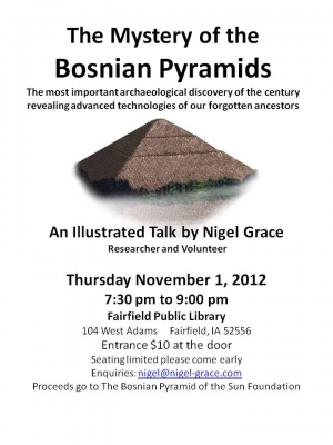 BOSNIAN PYRAMID PRESENTATION IN UK AND USA BY NIGEL GRACE
