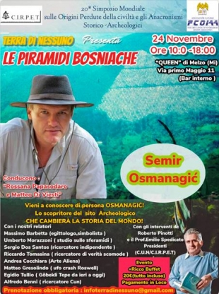 CONFERENCE DEDICATED TO THE BOSNIAN PYRAMIDS IN MILAN, ITALY