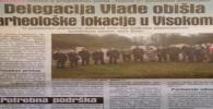 Delegacija Vlade obišla arheološke lokacije u Visokom