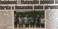Dnevni Avaz 11.06.2019: Dudaković i Mahmuljin ponosni na otkrića u Bosanskoj dolini piramida