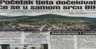 Avaz 06.juni 2019.: POČETK LJETA DOČEKIVAT ĆE SE U SAMOM SRCU BIH