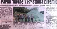 Dnevni Avaz 6.august 2019.: U parku 'Ravne' i kristalna piramida