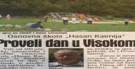 Dnevni Avaz 16.09.2019.: Osnovna škola iz Sarajeva provela čitav dan u parku 'Ravne 2'