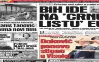 Naslovnica Dnevnog avaza: Đoković ponovo stigao u Visoko