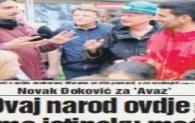 Naslovnica AVAZA: Izjava Novaka Đokovića