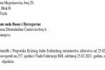 Zbog političke diktature Kriznog štaba apelacija Ustavnom sudu BiH